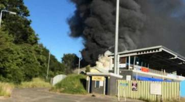 northern ireland football club's ground hit by major fire - arson suspected