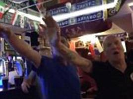 police ban england supporter from football for five years after nazi salute video in russian bar