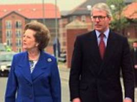 sir john major claims margaret thatchers criticism of him was due to dementia
