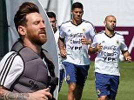 argentina prepare for nigeria clash after getting world cup lifeline