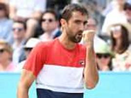 marin cilic beats nick kyrgios in straight sets to book place in queen's final