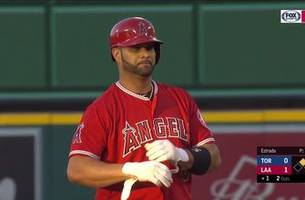 albert pujols rips rbi double to get angels on the board