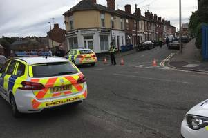 'blood everywhere' and two in hospital after serious incident in derby street