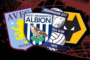 look: memorable aston villa, birmingham city, west brom and wolves hat-tricks over the last 20 years