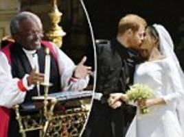 royal wedding preacher reveals he could feel harry and meghan's love