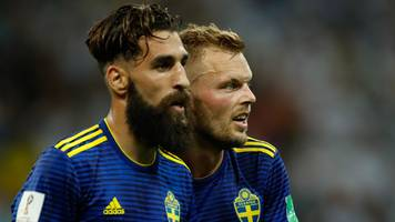 world cup 2018: sweden's jimmy durmaz defended by team-mates after racial abuse