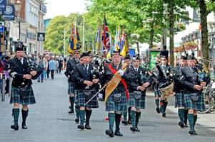 leicester salutes services personnel at armed forces day event