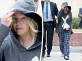 heather locklear leaves jail in her pajamas and flip-flops after spending the night following arrest