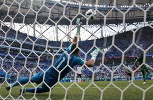 egypt may have made the save of the world cup on this penalty kick