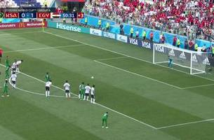 watch saudi arabia score their first goal at the 2018 fifa world cup
