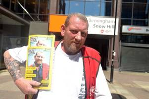hold the front page! the big issue seller karl lamsdale is this week's nationwide cover story