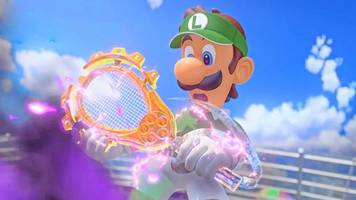 Mario Tennis Aces stars Luigi at what might be his absolute worst