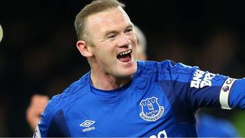 wayne rooney: five great premier league goals for manchester united and everton