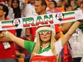 iran's female fans support their world cup heroes against portugal