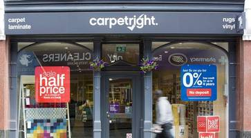 carpetright floored by £8.7m loss as closures loom
