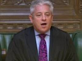 john bercow faces jibes from mps for failing to keep his vow to quit