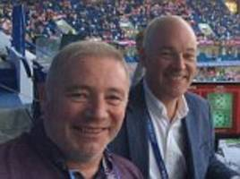 fans go wild for itv commentary duo ally mccoist and jon champion