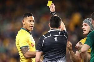 australia star israel folau receives ban that has 'real implications' for rugby's laws... but the saga isn't over