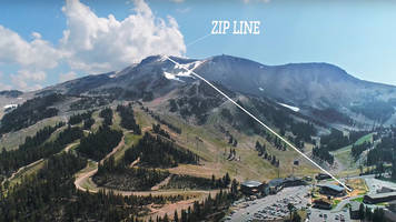 mammoth to launch the longest zipline in north america; video - riders will travel over a mile with the capability of hitting speeds over 55 mph.