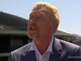 boris beckerswears on bbc's live wimbledon coverage