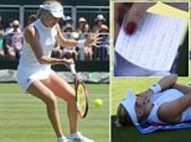 harriet dart loses to karolina pliskova and is first british player knocked out of wimbledon