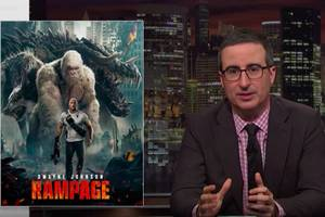 john oliver takes on gene editing with help from 'jurassic park,' 'rampage' (video)