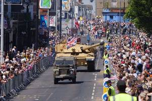 armed forces team hail 'spectacular' weekend of events with a record-breaking 180,000 visitors