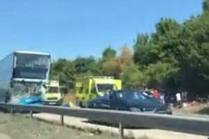 a120 traffic: school bus crash sees carriageway closed all afternoon