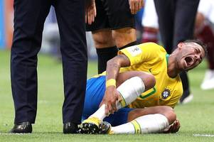neymar went down in martin o'neill's estimation ... and stayed down clutching his ankle - old firm facts