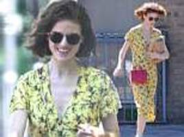 rose leslie steps out in yellow summer dress in london after marrying kit harington in scotland