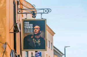 bristol pub the three tuns takes love of nicolas cage to new heights by dedicating sign to him