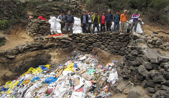 more than 70,000 pounds of trash removed from mount everest - considering the cleanup efforts are paying off, it's not all bad news.