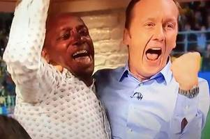 watch: ian wright's bonkers reaction as england score winning penalty