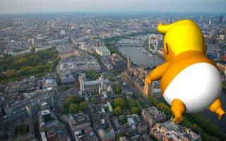 Angry Trump baby blimp given green light to fly over Parliament during visit