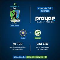prayag bath fittings announces associate gold sponsorship with much enthralling netmeds cup – india vs ireland t20 series