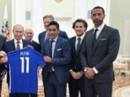 first it was dennis rodman and kim jong-un... now rio ferdinand meets vladimir putin