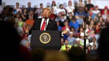 trump slams some of his go-to targets during montana rally