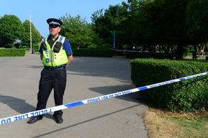children watch man washing blood-soaked hands in sidney park pond after suspected stabbing