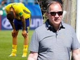 swedish pm stefan löfven looks downbeat after being knocked out of the world cup