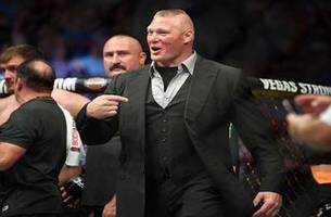 daniel cormier and dana white on brock lesnar's shove in the octagon