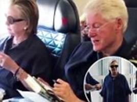 bill and hillary clinton fly commercial twice in one weekend