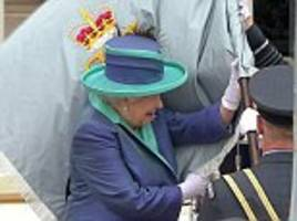 Queen trips on way into Westminster Abbey for RAF centenary service