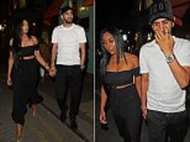 riyad mahrez heads out for dinner with his family after securing £60m move to manchester city