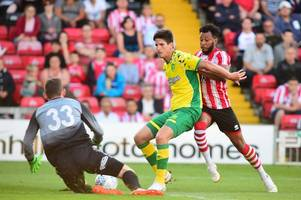 lincoln city field seven trialists in defeat to norwich city