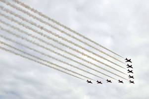 raf100 flypast including red arrows to go over surrey in 'once in a lifetime event'