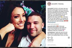 sophie gradon's boyfriend found dead - love island star's partner's body found weeks after her death