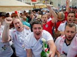 England invasion as 10,000 fans flood in to Moscow ahead of country's biggest game for a generation