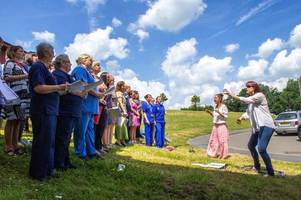 spine tingling moment hospital choir broke into coldplay's fix you to mark nhs's 70th anniversary