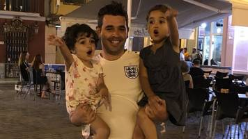 The Syrian refugee supporting England with his daughters