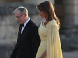 melania trump was looked after by philip may at gala dinner